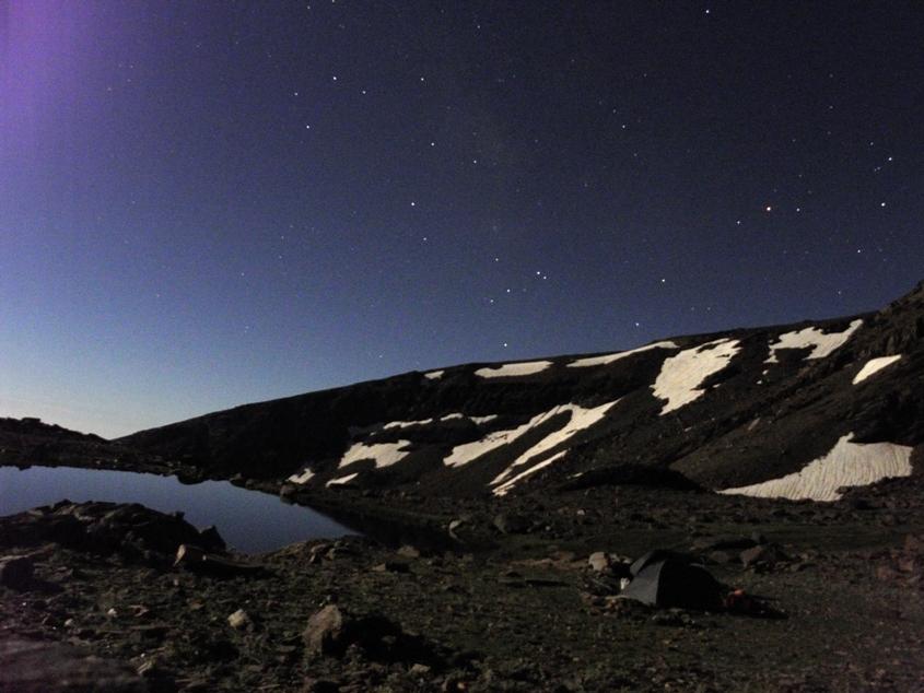 Siete Lagunas, la Nuit