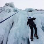 Escalando en hielo: Chorreras de los Militares